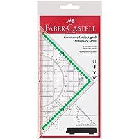 Faber Castell 177090 çizim üçgeni, büyük, saplı