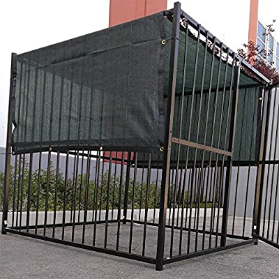 5' X 15' Dark Green UV Rated Dog Kennel Shade Cover, Sunblock Shade Panel, Shade Tarp Panel W/Grommets (Not the kennel)