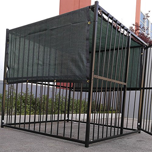 4-X-10-Dark-Green-UV-Rated-Dog-Kennel-Shade-Cover-Sunblock-Shade-Panel-Shade-Tarp-Panel-WGrommets-Not-the-kennel