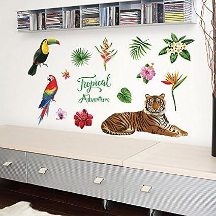 Entreprise Bureau Decorations Mur Autocollant Bully Tiger