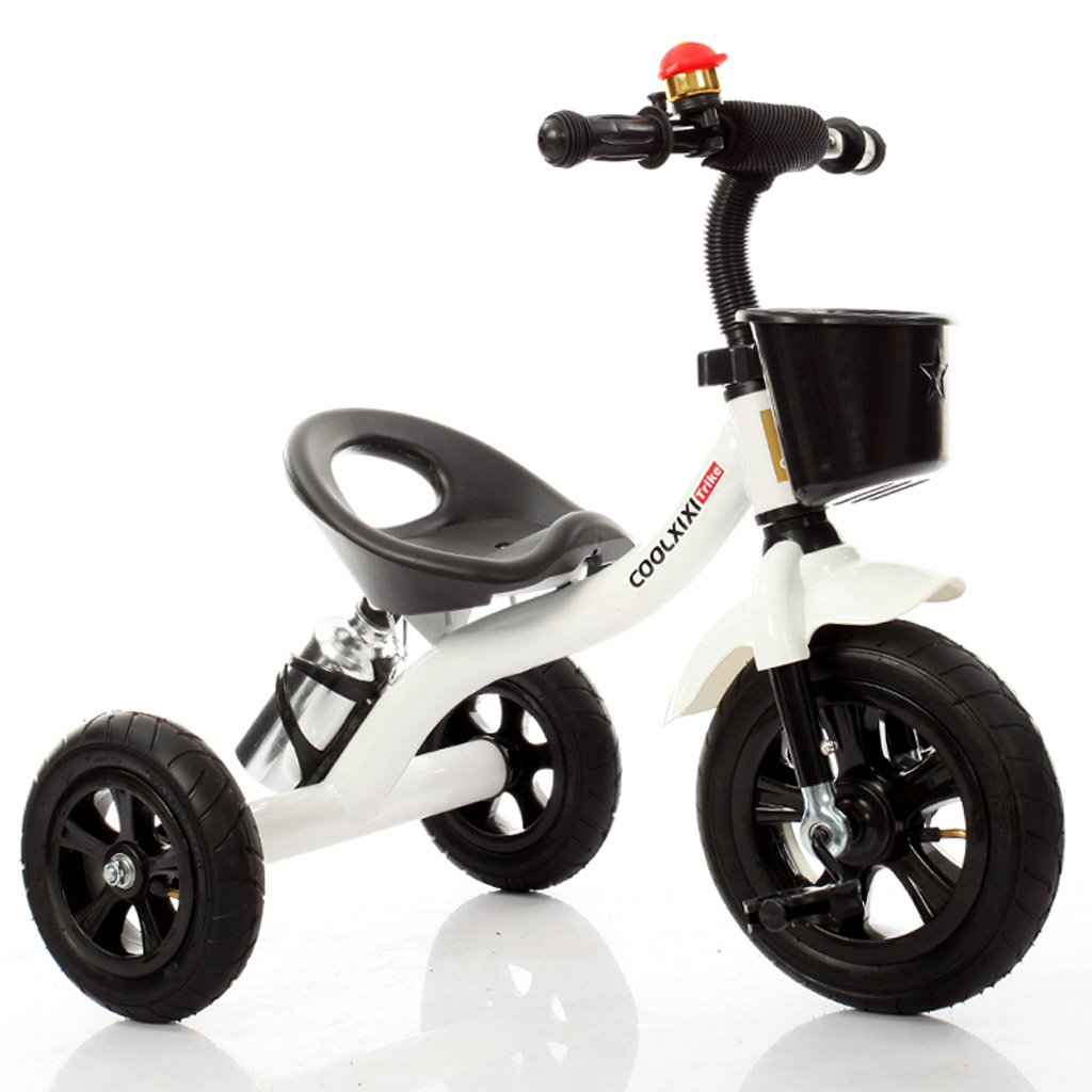 Bicicletas para niños elegantes bicicletas para bebés bicicletas de tres ruedas para niños y niñas bicicletas para bebés de 1-3-5-2-6 años salidas al aire libre vehículos( Color : Blanco )