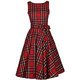 Gillberry Women's S Retro Vintage Sleeveless Big Bottom Swing Dress