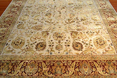 (8' x 10' Jaipur Hand Knotted Wool and Silk India Rug)
