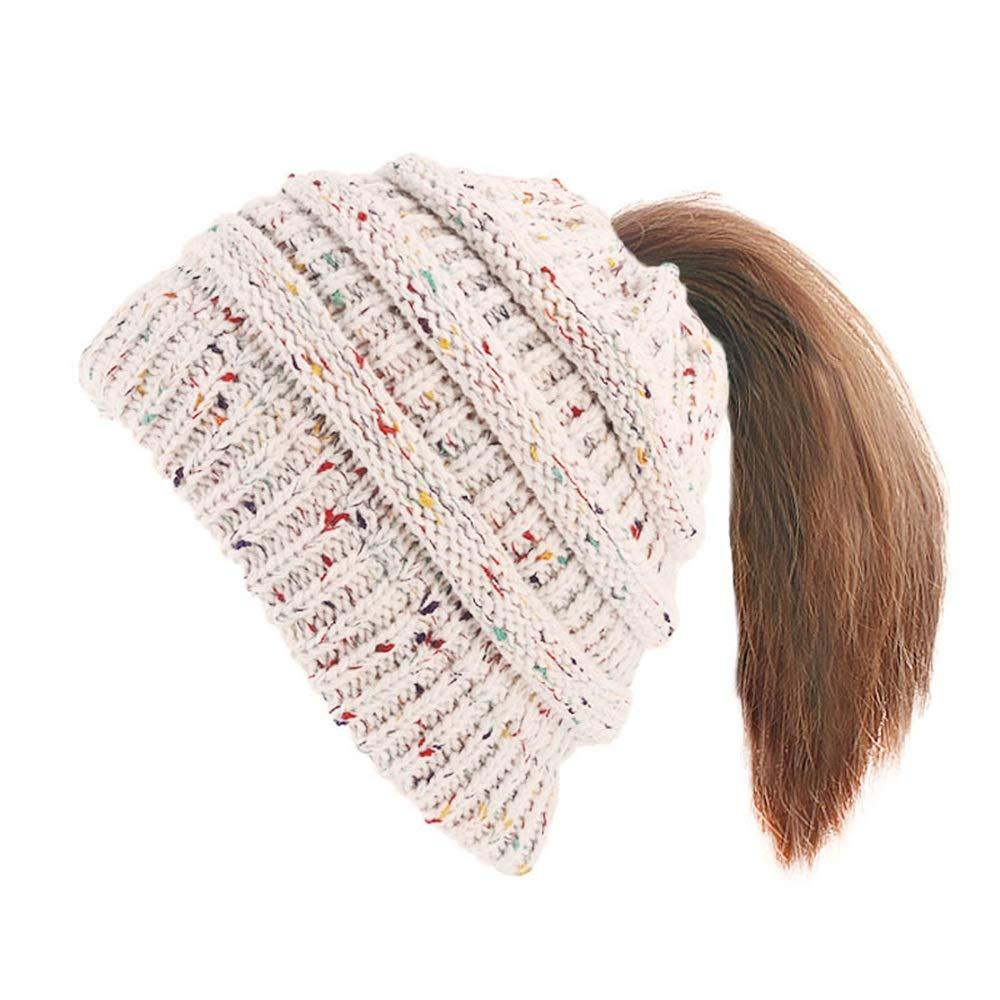 Egs-Sombrero Gorro de Punto para Mujer, Gorro de Tejido de ...