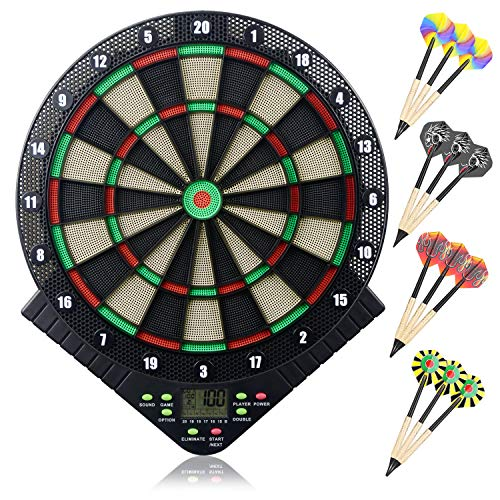 Best Review Of Miuko Electronic Dart Board, Electronic Dartboard, Soft Tip Dartboard Set LCD Display...