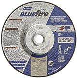 Norton Blue Fire Plus Depressed Center Abrasive Wheel, Type 27, Zirconia Alumina and Aluminum Oxide, 5/8''-11 Hub, 5'' Diameter x 1/8'' Thickness  (Pack of 10)