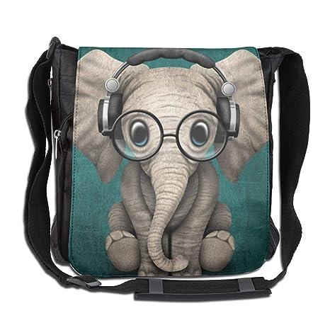 99a2799c8fc1 CUW BBCUW Unisex Casual Satchel Messenger Bags DJ Glasses Elephant  Crossbody Shoulder Bag School Bags for