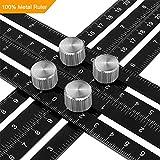 Aonkey Angleizer Template Tool | Upgrade Metal Multi-Angle Ruler | General Tools 836 | Universal Layout Tool Measurement for Carpenter, Craftsmen, Handymen, DIY-ers