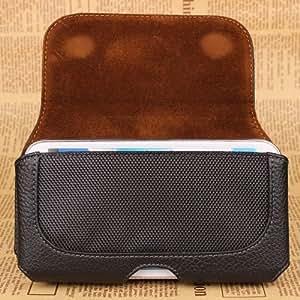 Semoss - Funda de piel con trabilla para cinturón para Samsung Galaxy S5 Mini , color negro