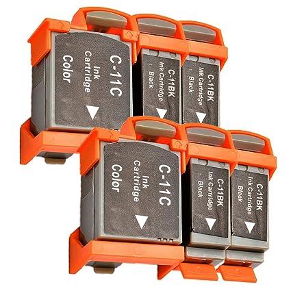 Ouguan - Cartucho de Tinta Compatible con Canon BCI-11 de ...