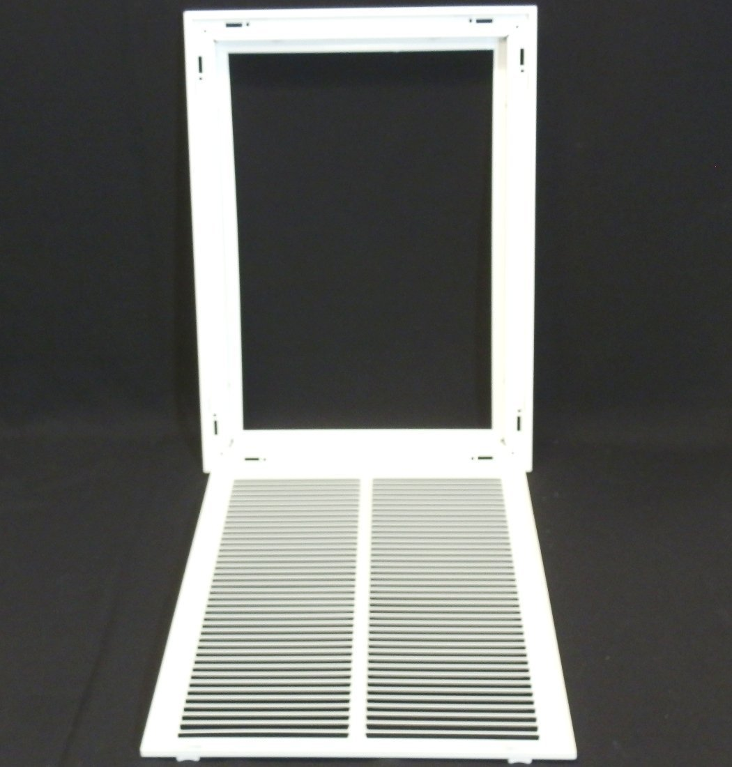 Flat Stamped Face White 14 X 20 Steel Return Air Filter Grille for 1 Filter Removable Face//Door HVAC DUCT COVER HVAC Premium CECOMINOD094909 Outer Dimensions: 16.5w X 22.5h