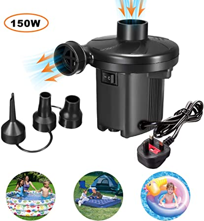 240V//12V Electric Air Pump Inflator For Inflatable Airbed Pools Sofa Toy Camp UK