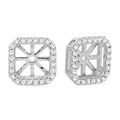 b7bc06af392a4 0.26 Carat (ctw) 14K Gold Round White Diamond Removable Jackets For Stud  Earrings 1/4 CT (white-gold)