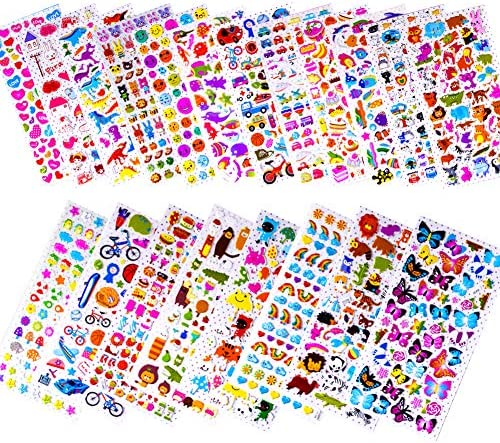 Anker:Colouring//Art//Craft//Christmas Gift CHARACTER A4 Sheet Puffy Stickers