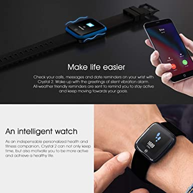 Lvillage Crystal 2 Smart Watch IP67 Waterproof 1 29 inch