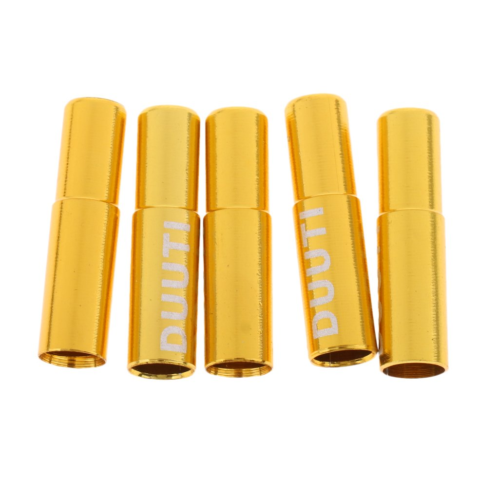 MagiDeal 5点合金自転車自転車ブレーキケーブルShifterワイヤエンドCrimps 5 mm Ferrulesキャップ B07965Q145イエロー Yellow