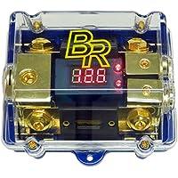 Bass Rockers Distribution Block 0GA to 2x4GA w/ 2 ANL Fuses & Digital Display (ANLFH02D)