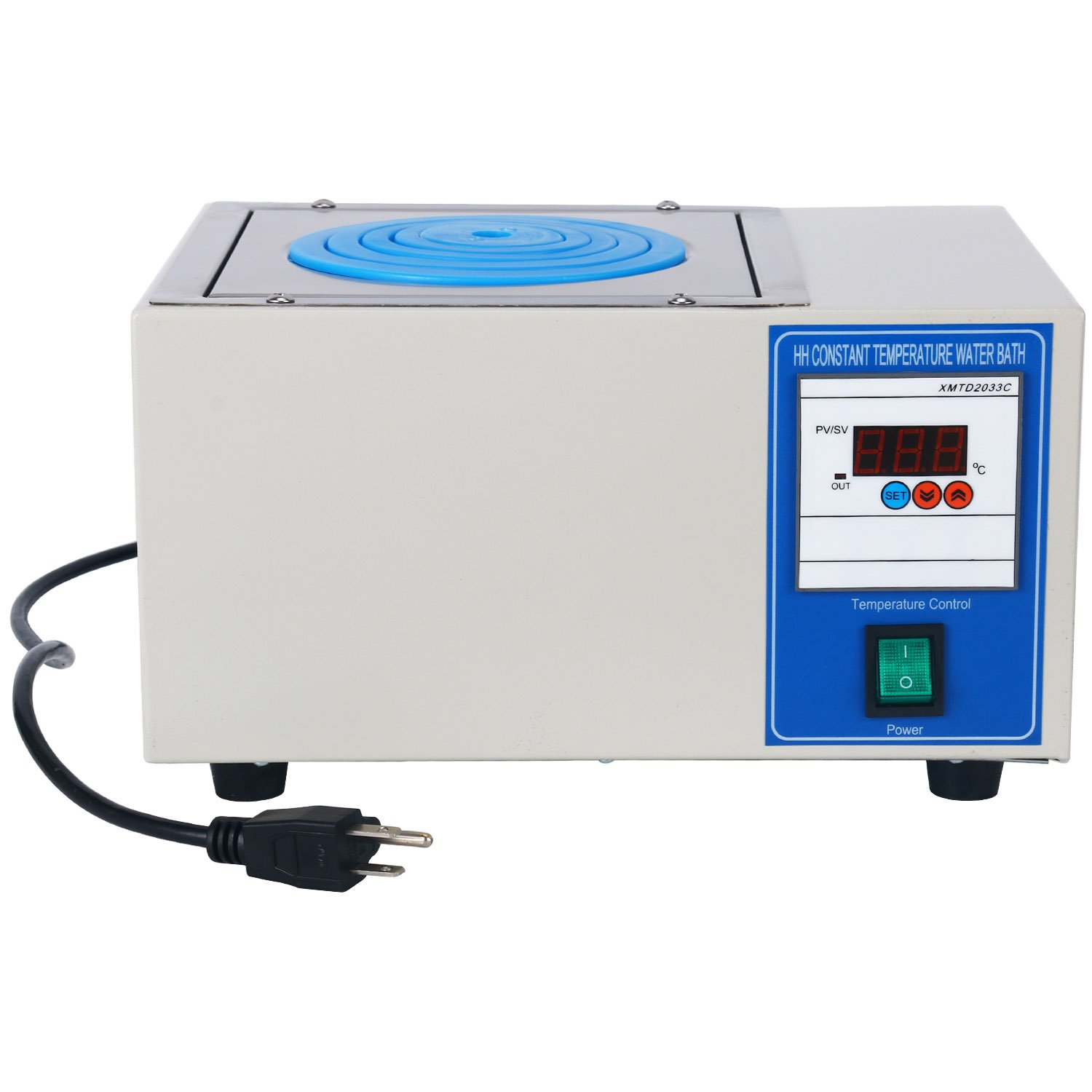 HH-1 300W Digital Lab Single Hole Electric Heating Thermostatic Water Bath Boiler 150 x140 x 95mm (110V) by YaeCCC