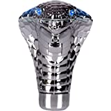 Coche Universal Mano Pomos de palanca de cambios, Diseño de Serpiente Cobra con Ojos Parpadeantes Azules LED
