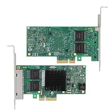 Tosuny 4 Puertos Tarjeta de Red Gigabit PCI-E 10mbps/100mbps ...