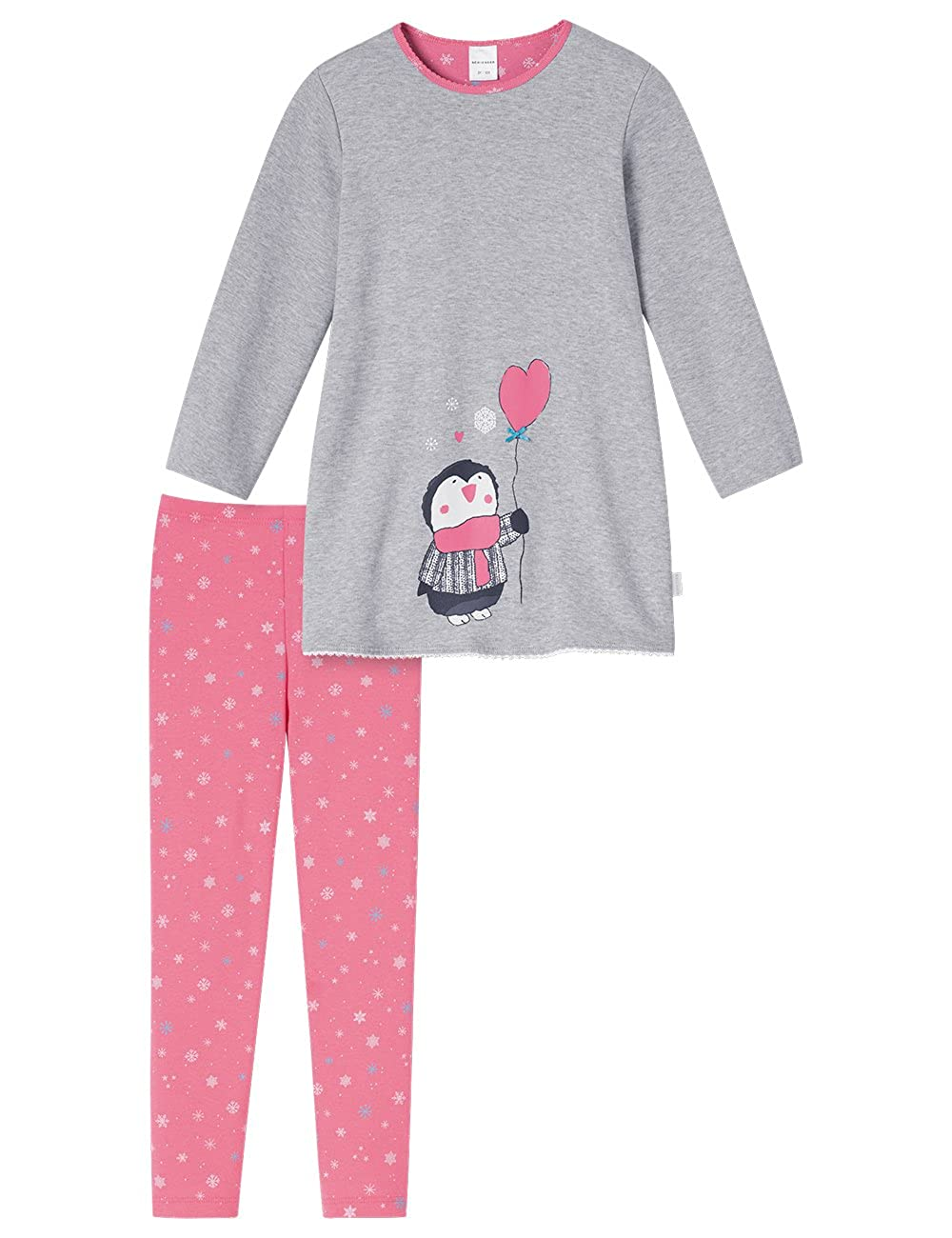 teilg lang aus der Serie Schneehase Grey Schiesser Mädchen Baby Schlafanzug 2
