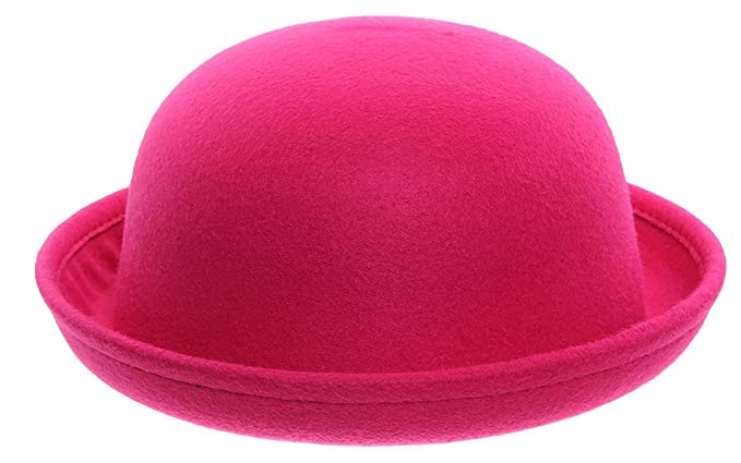 c983e45639a Image Unavailable. Image not available for. Color  Eozy Women Wool Felt  Roll Brim Bowler Derby Hats ...