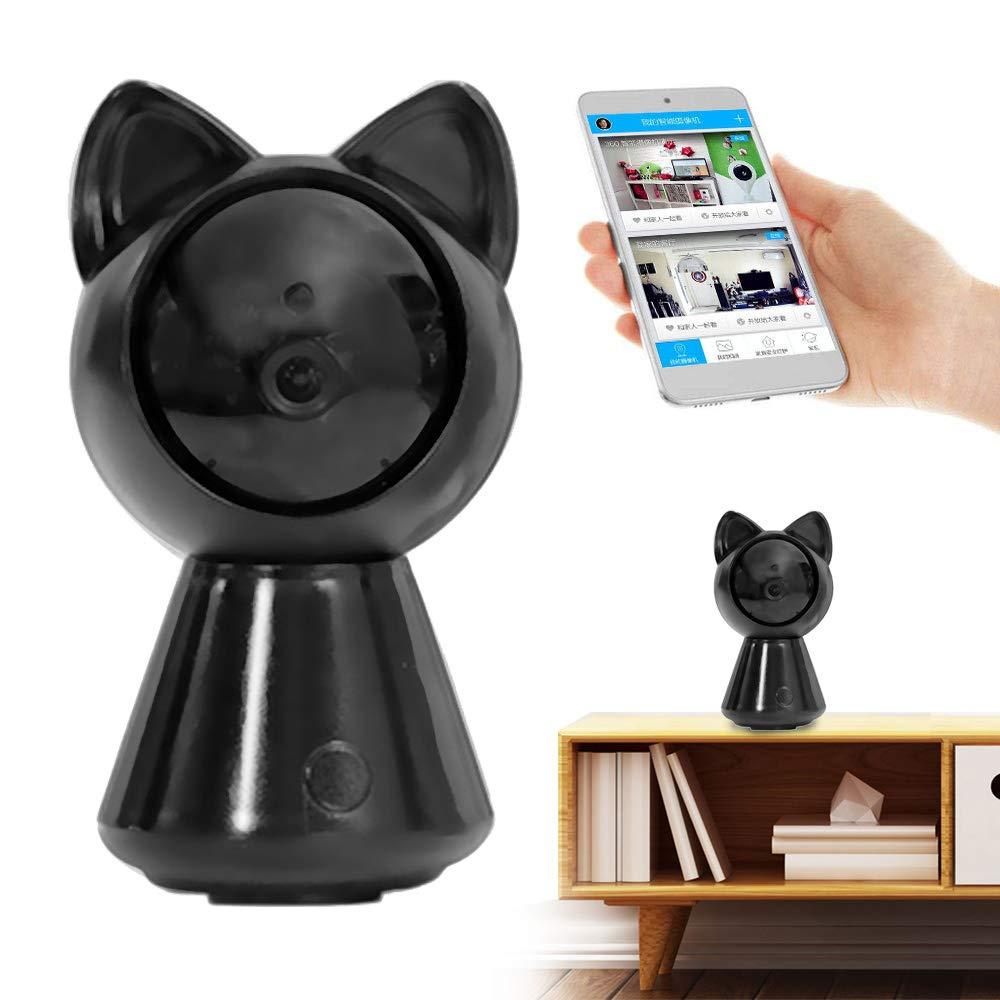 WiFi IP Camera Wireless Home Security Surveillance IP Camera for Baby/Elder/ Pet/Nanny Monitor, Pan/Tilt, Two-Way Audio & Night Vision 1080P & 2.4GHz Surveillance Camera, Motion Alarm (Black)
