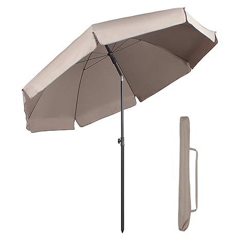 Sekey 7ft Beach Umbrella Beige | Outdoor Umbrella Beige | Outdoor Patio  Umbrella Beige | Outdoor