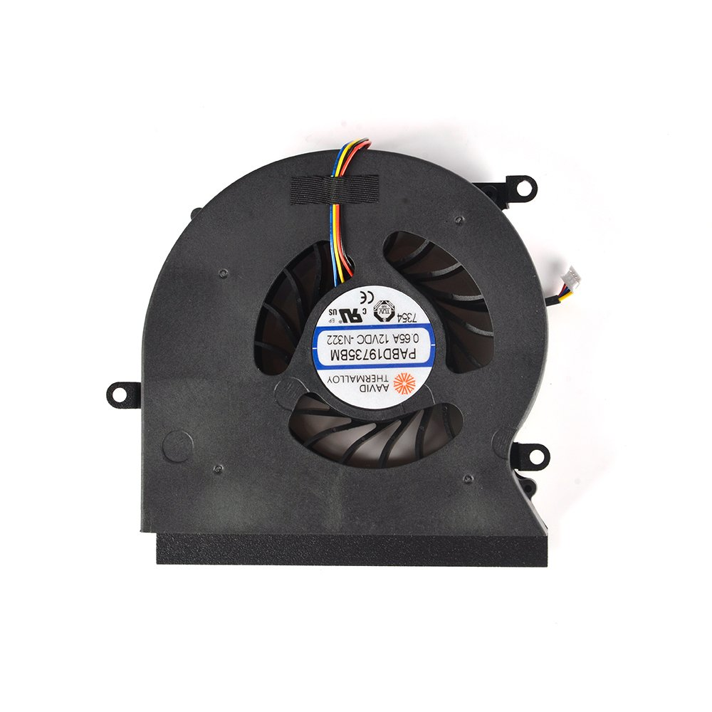 Cooler Para Msi Gt62 Gt62vr 6re Gt62vr 7re 16l1/16l2 Series  Para Part Number Pabd19735bm-n322 12v 0.65a 4pin