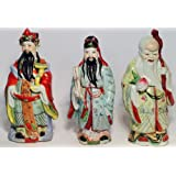 Set of 3 Colorful Lucky Gods