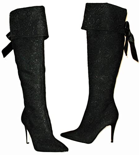 c059ef442879 Via Spiga Women's V-Maddy Black Fold Able Over-The-Knee Dress Boots:  Amazon.co.uk: Shoes & Bags