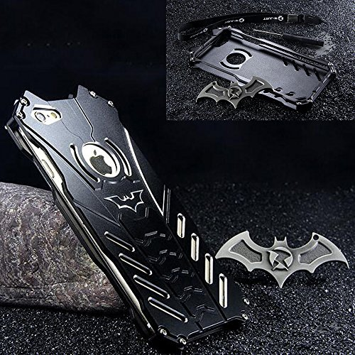 - GOODKSSOP LUXURY Batman Style Shockproof Aluminum Bumper Skin Metal Back Case Cover For Apple iPhone 6 Plus 5.5