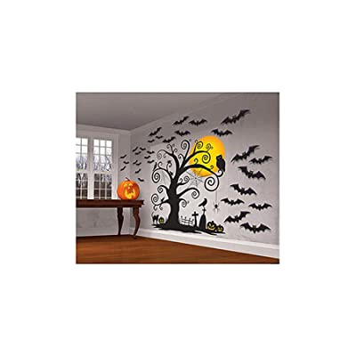Amscan Halloween Cemetery Scene Setters 65'' x 32'' Paper & Plastic Decorating Kit: Toys & Games
