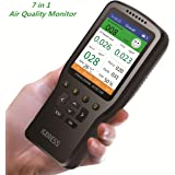IGERESS Indoor Air Quality Monitor Detector Accurate Testing Formaldehyde(HCHO) TVOC PM2.5/PM1.0/PM10 Air Quality Pollution with TEMP HUM Real Time Recording Data Logger Monitor for Car Outdoors