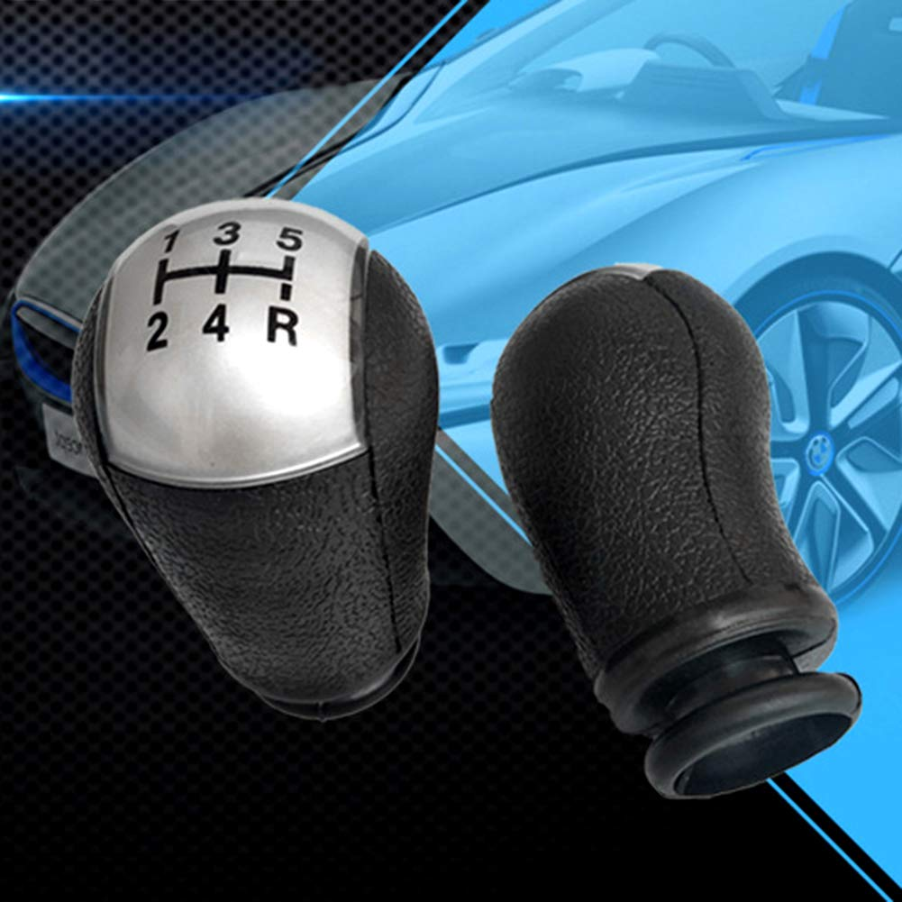 9.1cm x 5.1cm Approx Black qhtongliuhewu Stylish Manual Shift Knob 5 Speed Car Gear Stick Replacement For Ford Focus Mondeo