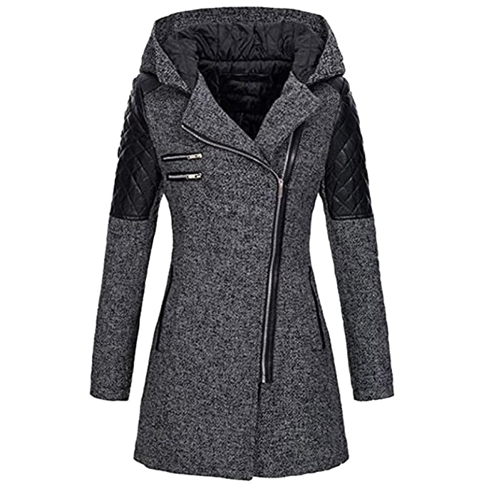 Christmas Deals! Teresamoon Women Warm Slim Jacket Thick Parka Overcoat Winter Outwear Hooded Zipper Coat