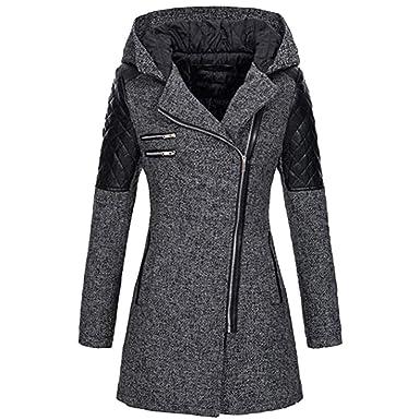 99native Manteau Femme Hiver Doudoune Femme Longue Duffle Coat Fourrure  Jacket Leather, Veste 2018 Mode Manches Longues ÉPaissir Doublé Peluche  Parka ... 2e4e90e7947