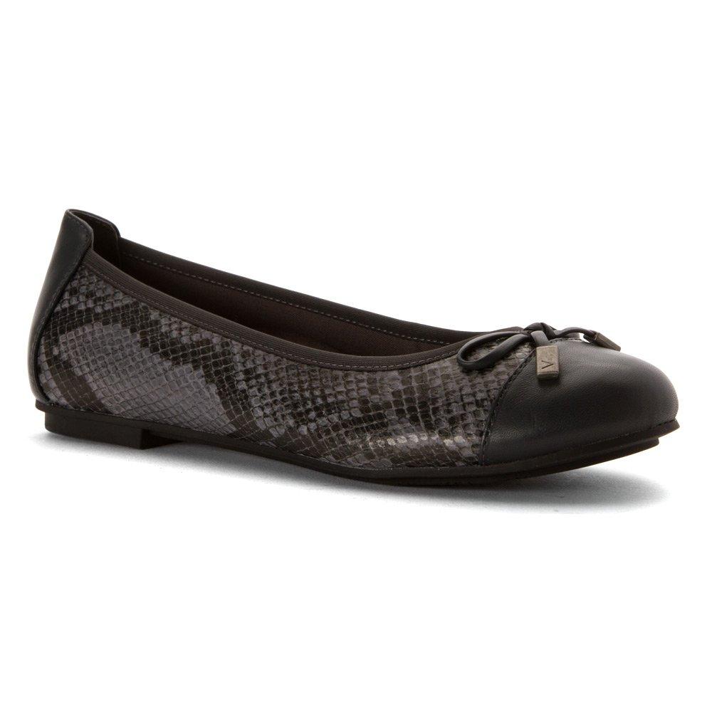 Vionic Women's Spark Minna Ballet Flat B018TKVNRG 7.5 B(M) US|Grey Snake