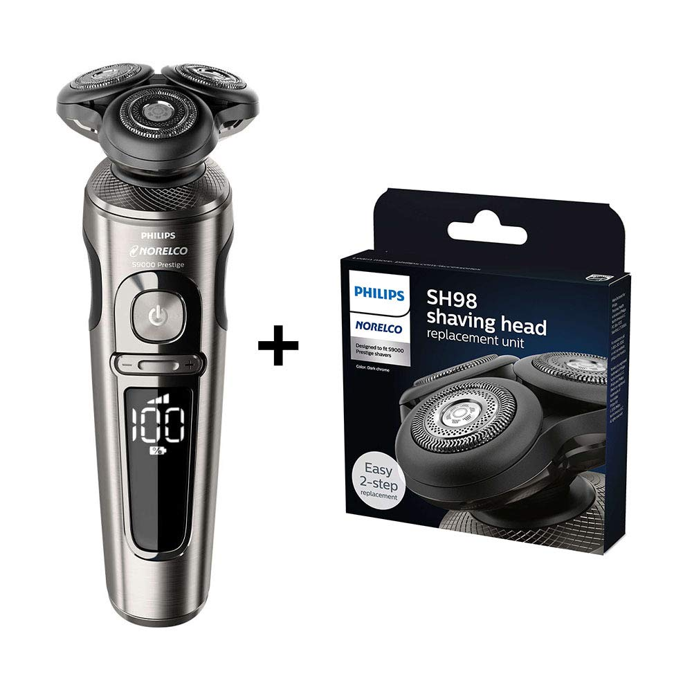 Norelco SP9860/86 with SH98/72, series 9000, Electric Shaver/Razor with NanoTech Precision Blades and SmartClick Precision Trimmer