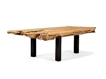 Massivum Couchtisch Tenaga 140x40x60 Cm Teak Holz Massiv Natur Mit