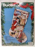 BUCILLA 1993 Santa Collage Christmas Stocking Counted Cross Stitch Embroidery KIT 18''
