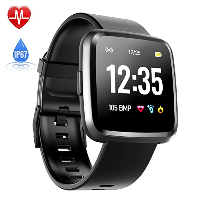 Bluetooth Smartwatch Touch Screen, Hommie Waterproof Sport Smart Watch with Message Call Reminder Heart Rate Monitor Sleep Tracker Step Counter for ...