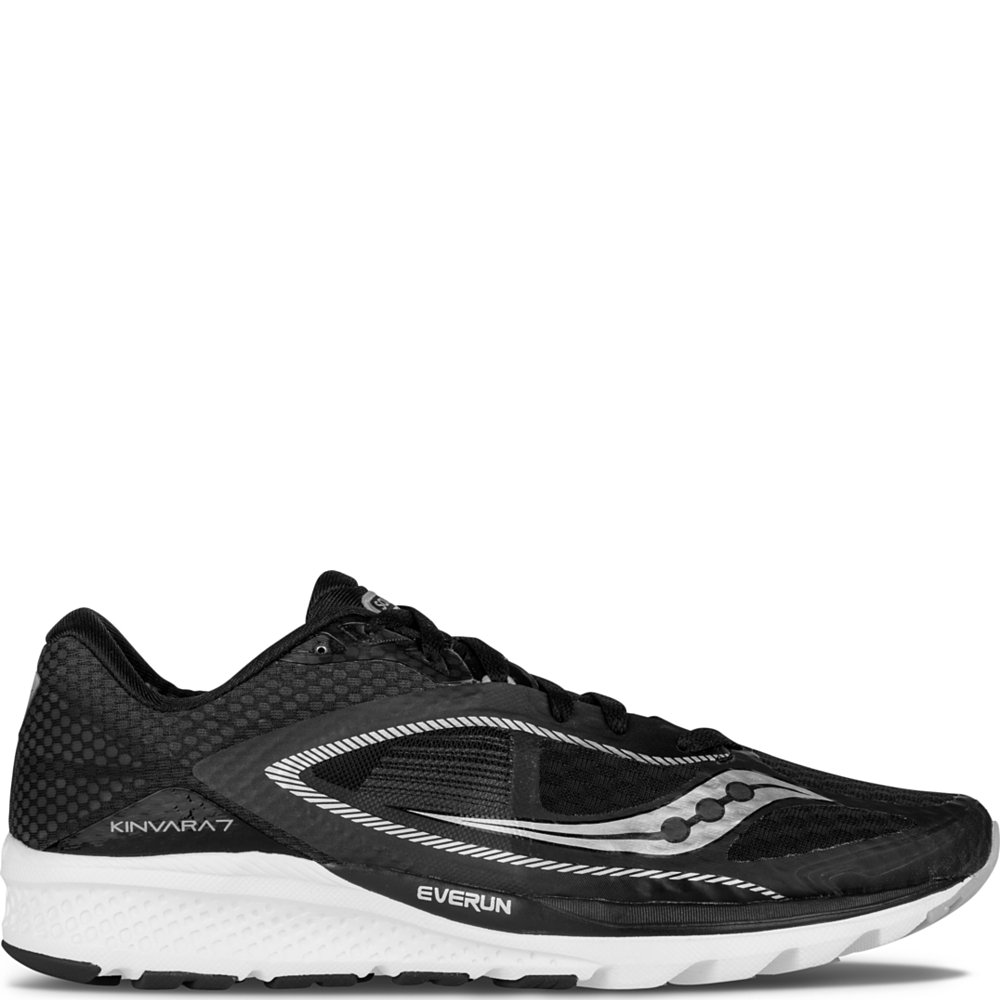 Saucony Women's Kinvara 7 Running Shoe B018F1I6HE 7 B(M) US|Black | White