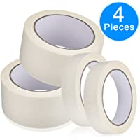 AUSTOR 4 Rolls Masking Tape (25mmx20m,50mmx20m) for Painting, Decorating and Crafts(2 Rolls/ Each Size), White