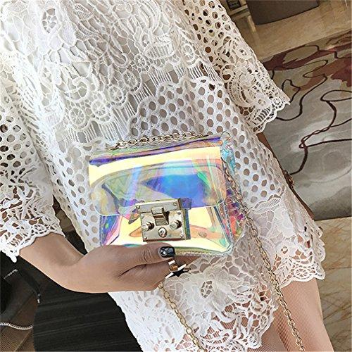 Mujer Transparent Bolso PVC Transparente para Bolso de Transparent para Transparente Jalea Tq44S