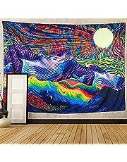 Psychedelische wandtapijten Trippy Mountain wandkleden Sun Tapestry wanddecoratie voor woonkamer slaapzaal Decor, kleurrijk