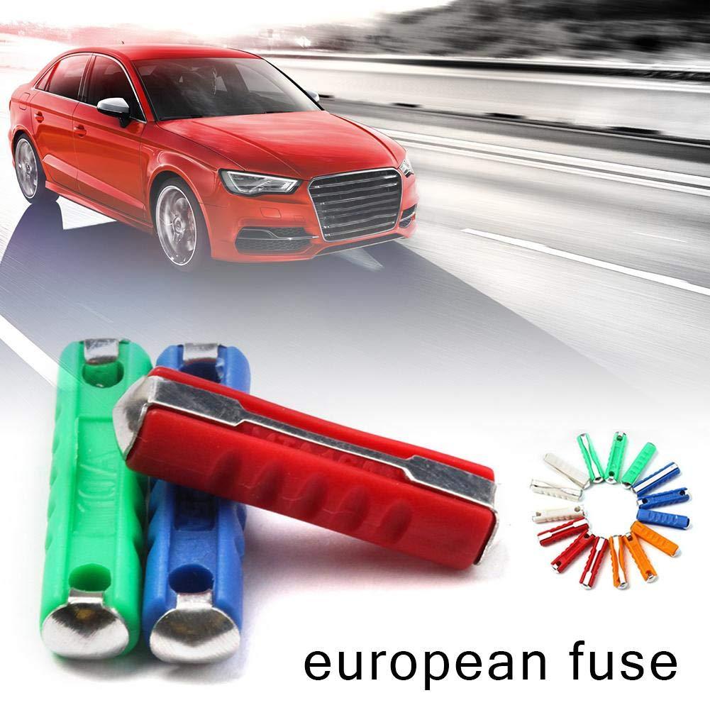 biteatey 200 ST/ÜCKE GBC Europ/äischen Kfz-Sicherung Vintage Alten Stil Autosicherung Europ/äischen Kfz-Sicherung 5-30AMP Dia 6mm EU-Sicherung