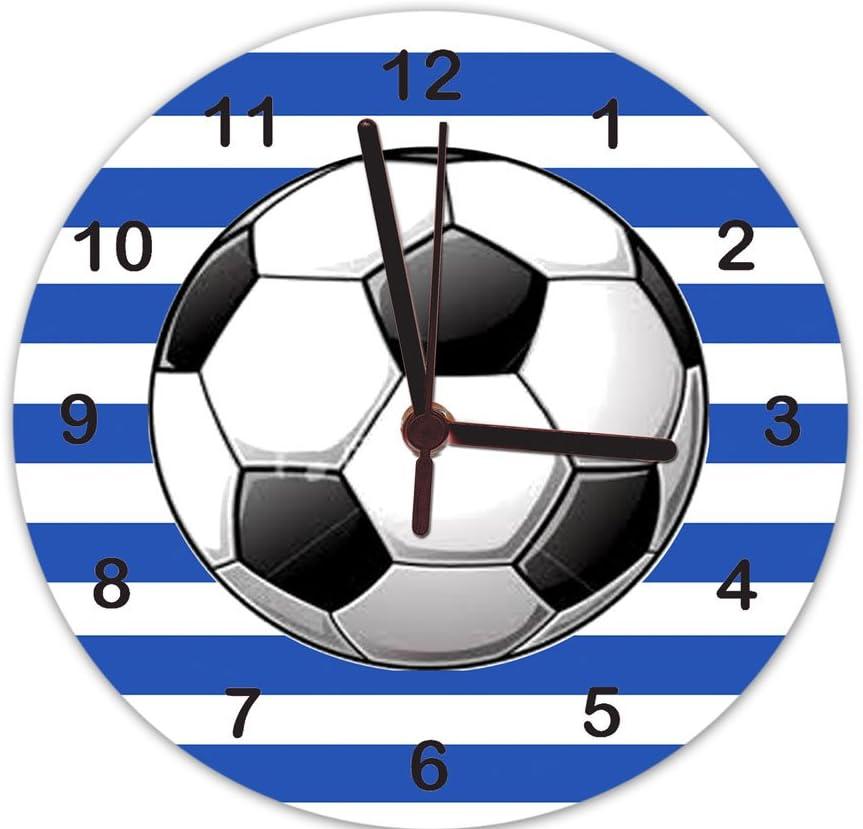 Reloj para niños, reloj de fútbol, balón de fútbol azul, reloj ...