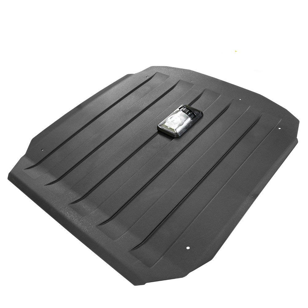 Hard Roof Compatible for Polaris RZR 900 XP 1000 Turbo 900 S Trail UTV Top with Reading Lamps Light, Black - KIWI MASTER