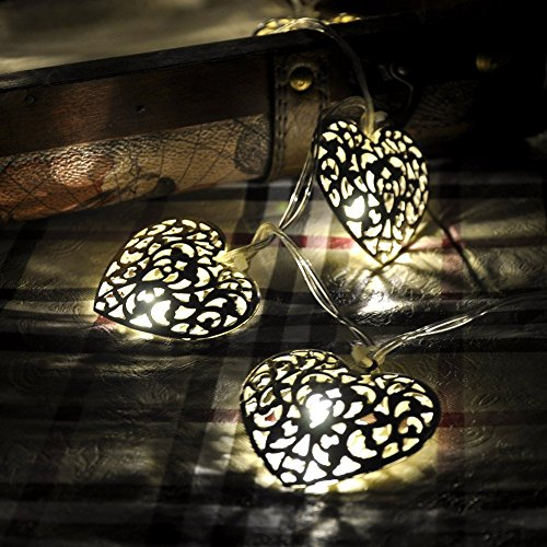 Warm White Solar Powered String Lights 5m 20 Led Silver